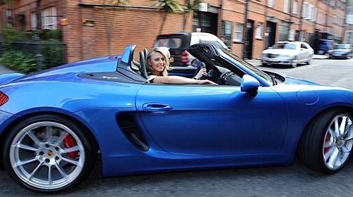Sharapova w Porsche